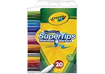Crayola® Washable Super Tips with Silly Scents, 20/Box