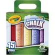 Crayola Sidewalk Chalk Bucket, 15/Pack