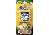 Crayola® Kids Washable Poster Paint-Pots, 18/Pack