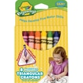 Beginnings Washable Triangular Crayons, Wax, 8 Per Box