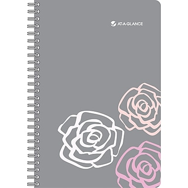 2014 AT-A-GLANCE® Pink Petals Weekly/Monthly Appointment Book, 5 1/2in. x 8 1/2in.