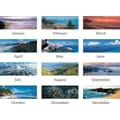 "2014 AT-A-GLANCE® Images of the Sea Panoramic Desk Pad, 22"" x 17"""