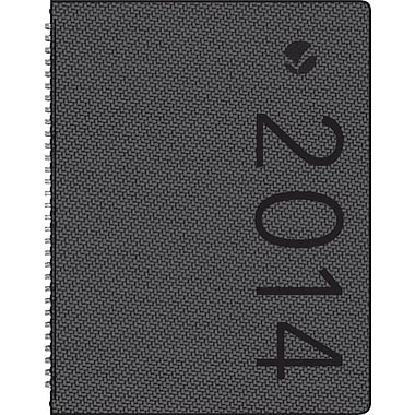 2014 AT-A-GLANCE® Contemporary Weekly/Monthly Appointment Book, Textured, 8 1/4in. x 10 7/8in.