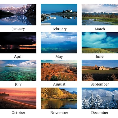 "2014 AT-A-GLANCE® Scenic Three-Month Wall Calendar, 12 1/4"" x 27"""