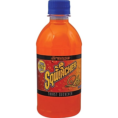 Sqwincher Lite Ready to Drink Bottle, 12 oz, Orange, 24/Case