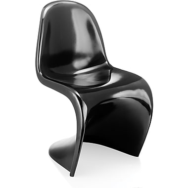 Zuo® ABS Plastic S Chair, Black