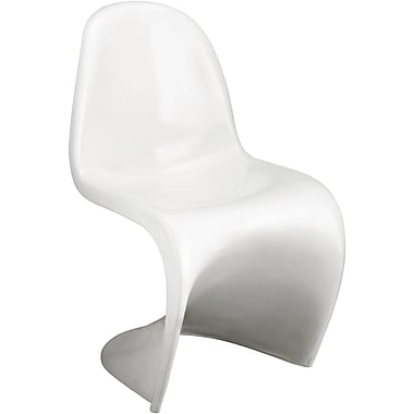 Zuo® ABS Plastic S Chair, White