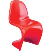 Zuo® ABS Plastic S Chair, Red