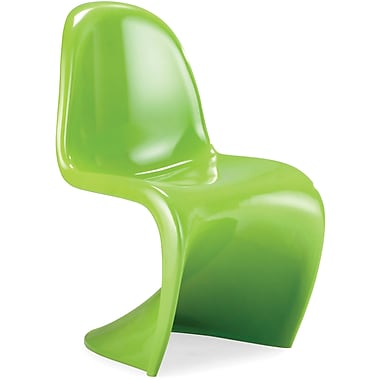 Zuo® ABS Plastic S Chair, Green