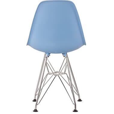 Zuo® Acrylic Chromed Steel Baby Spire Chairs