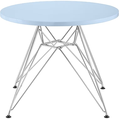 Zuo® Wacky 19.3in. x 23.6in. x 23.6in. MDF Chromed Steel Children's Tables
