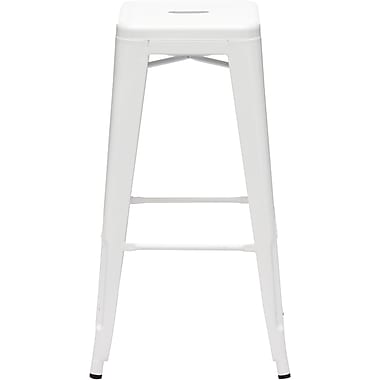 Zuo® Elm Wood Marius Bar Chair, White