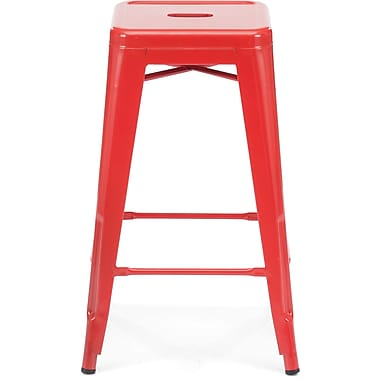 Zuo® Steel Marius Counter Stool, Red