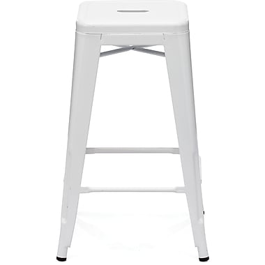 Zuo® Steel Marius Counter Stool, White