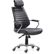 Zuo® Enterprise Leatherette High Back Office Chair, Black