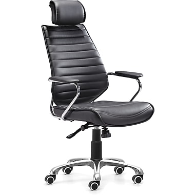 Zuo® Enterprise Leatherette High Back Office Chairs