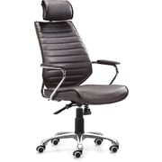Zuo® Enterprise Leatherette High Back Office Chair, Espresso