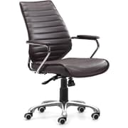 Zuo® Enterprise Leatherette Low Back Office Chair, Espresso
