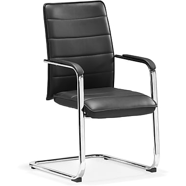 Zuo® Enterprise Leatherette Low Back Conference Chair, Black