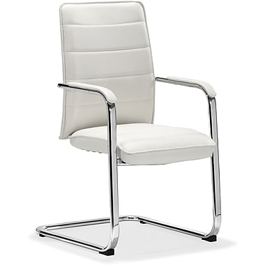 Zuo® Enterprise Leatherette Low Back Conference Chair, White
