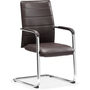 Zuo® Enterprise Leatherette Low Back Conference Chair, Espresso