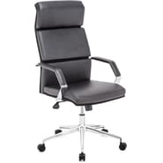 Zuo® Lider Pro Leatherette High Back Office Chair, Black