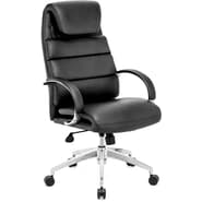 Zuo® Lider Comfort Leatherette High Back Office Chair, Black