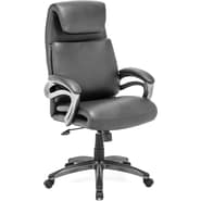Zuo® Lider Relax Leatherette High Back Office Chair, Black
