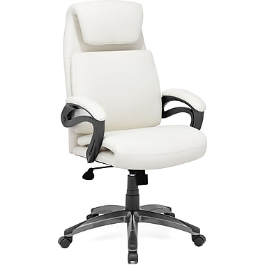 Zuo® Lider Relax Leatherette High Back Office Chair, White