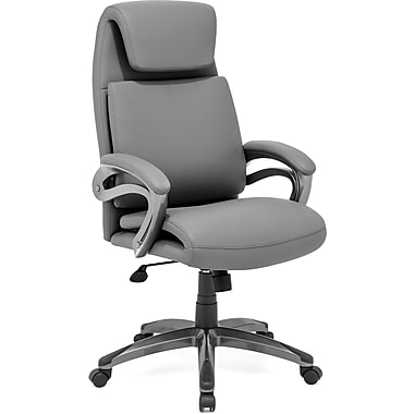 Zuo® Lider Relax Leatherette High Back Office Chair, Gray