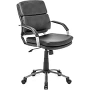 Zuo® Director Relax Leatherette Mid Back Office Chair, Black
