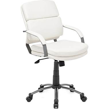 Zuo® Director Relax Leatherette Mid Back Office Chair, White