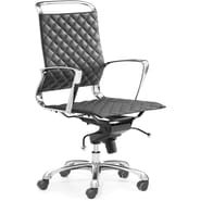 Zuo® Jackson Leatherette Mid Back Office Chair, Black