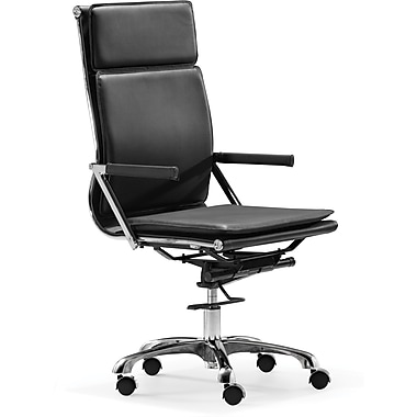 Zuo® Lider Plus Leatherette High Back Office Chairs