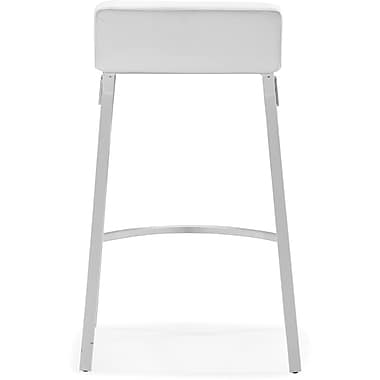 Zuo® Leatherette Xert Counter Chair, White