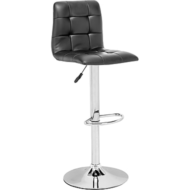 Zuo® Leatherette Oxygen Bar Stool, Black