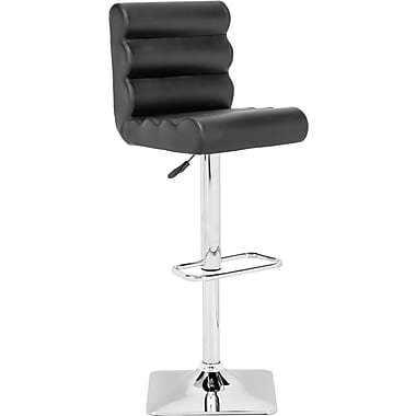 Zuo® Leatherette Nitro Bar Stool, Black