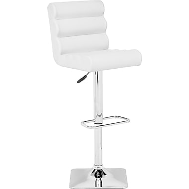 Zuo® Leatherette Nitro Bar Stool, White