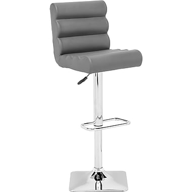 Zuo® Leatherette Nitro Bar Stool, Gray