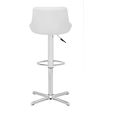 Zuo® Leatherette Devilin Bar Stool, White