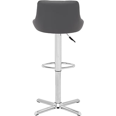 Zuo® Leatherette Devilin Bar Stool, Gray