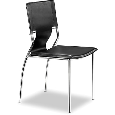 Zuo® Trafico Leatherette Dining Chair, Black