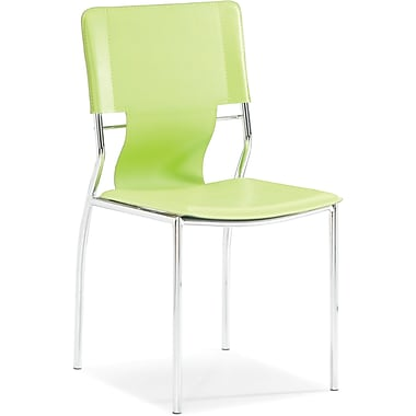 Zuo® Trafico Leatherette Dining Chair, Green