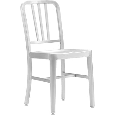 Zuo® Brushed Aluminum Bistro Chair, Aluminum