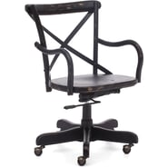 Zuo® Union Square Elm Wood Mid Back Office Chair, Black