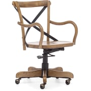 Zuo® Union Square Elm Wood Mid Back Office Chair, Natural