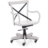 Zuo® Union Square Elm Wood Mid Back Office Chair, White