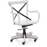 Zuo 98032 Union Square Elm Wood Mid-Back Executive Chair with Fixed Arms, White