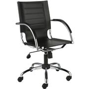Euro Style™ Dave Leather Office Chair, Black