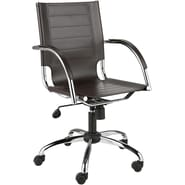 Euro Style™ Dave Leather Office Chair, Brown